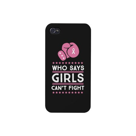 Suzys Case (Who Says Girls Can't Fight Black Phone Case)