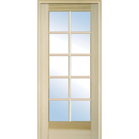 Verona home design wood 1 panel natural interior french for All glass french doors