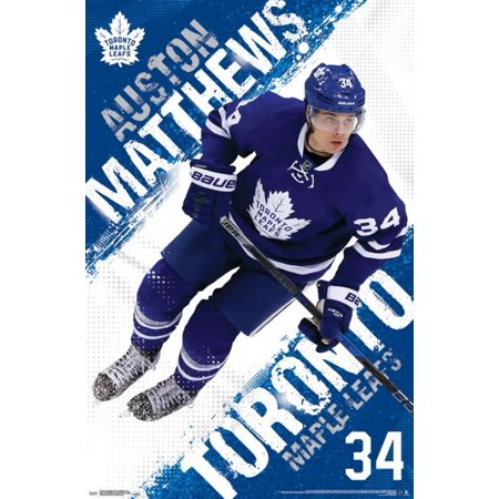 the latest 11e76 bb981 Toronto Maple Leafs - Auston Matthews 16 Poster Print