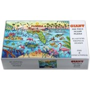 "Florida Map Giant Jigsaw Puzzle 500 pcs (21"" x 15"" When Finished)"