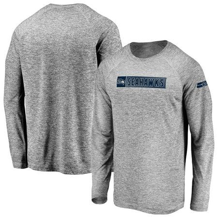 Men's Fanatics Branded Gray Seattle Seahawks In the Zone Long Sleeve T-Shirt Seattle Seahawks Grilling