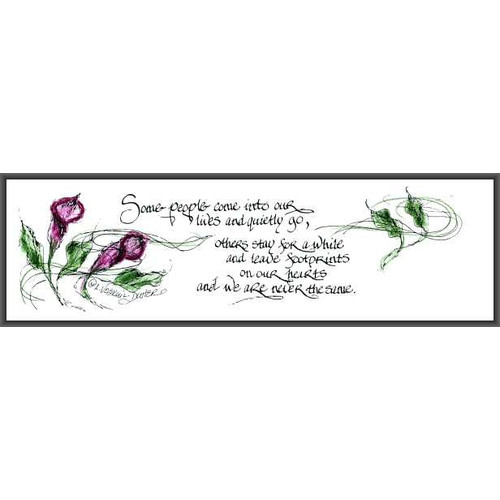 LPG Greetings Life Lines Some People by Lori Voskuil-Dutter Framed Graphic Art