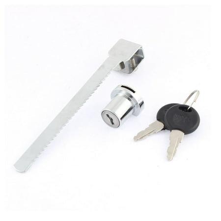 Terrarium Lock - Terrarium Showcase Display Cabinet Sliding Glass Door Lock + 2 Keys