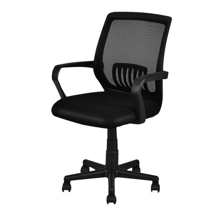 Costway Modern Ergonomic Mid-back Mesh Computer Office Chair Desk Task Task Swivel Black ()