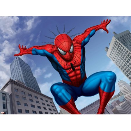 Spider-Man Jumping In the City