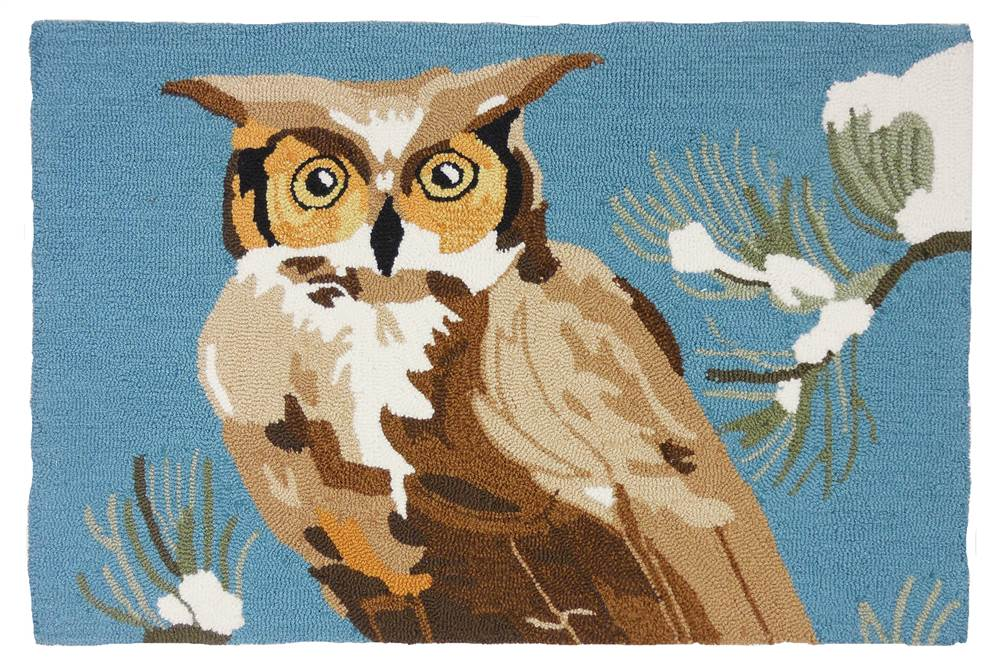 Woodland Owl Accent Rug