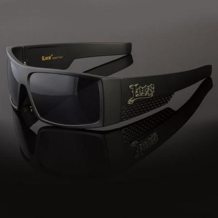 OG LOCS Large Men's Glasses Flat Top Super Dark Black Sunglasses Gangster Shades - Shades Glasses