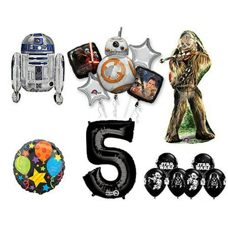 The Ultimate Star Wars 5th Birthday Party Supplies and Balloon decorations - Star Wars Decorating Ideas