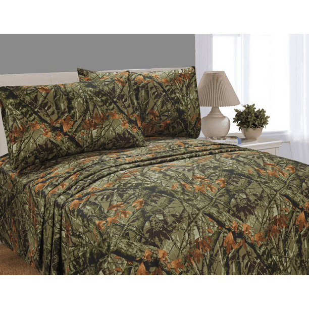 Mainstays Soft Wrinkle Resistant Microfiber King Camo Sheet Set