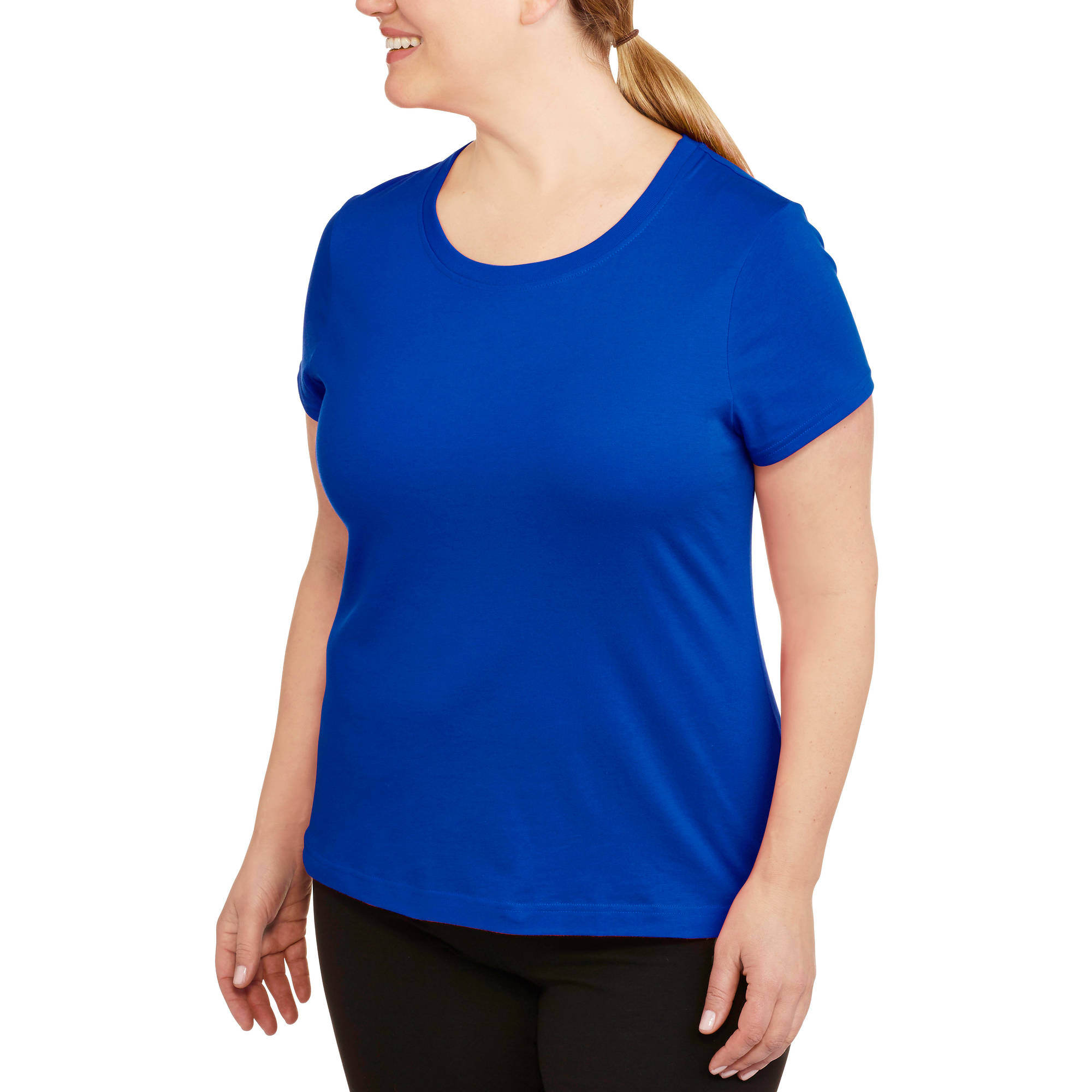Danskin Now Womens Plus-Size Dri-More Core Workout Tee With Wicking