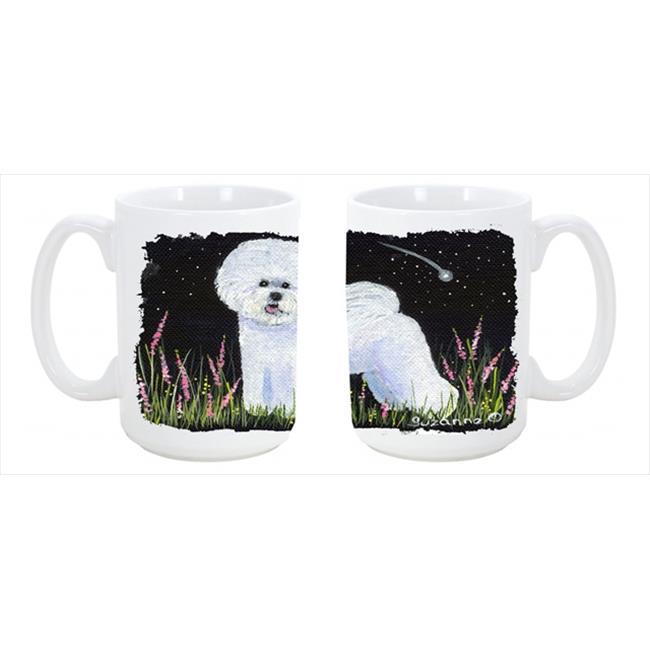 Carolines Treasures SS8143CM15 Bichon Frise Dishwasher Safe Microwavable Ceramic Coffee Mug 15 oz. - image 1 de 1
