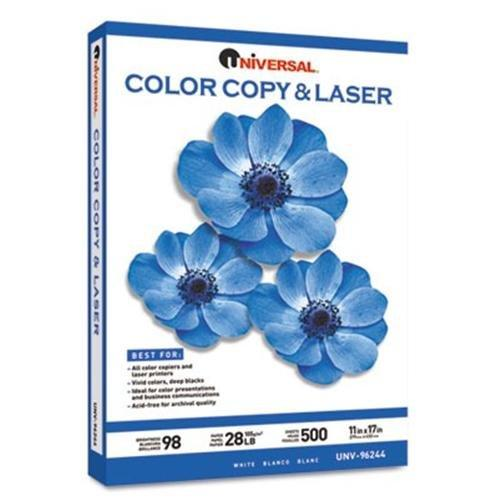 UNIVERSAL OFFICE PRODUCTS 96244 Color Copy/laser Paper, 98 Brightness, 28lb, 11 X 17, White, 500 Sheets/ream