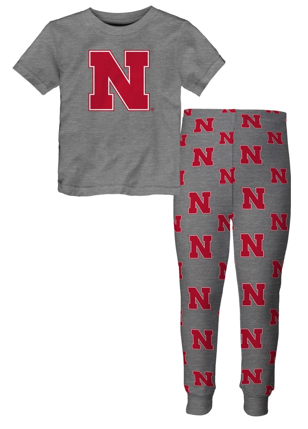 "Nebraska Cornhuskers Toddler NCAA ""Game Winner"" Pajama T-shirt & Sleep Pant Set by Outerstuff"