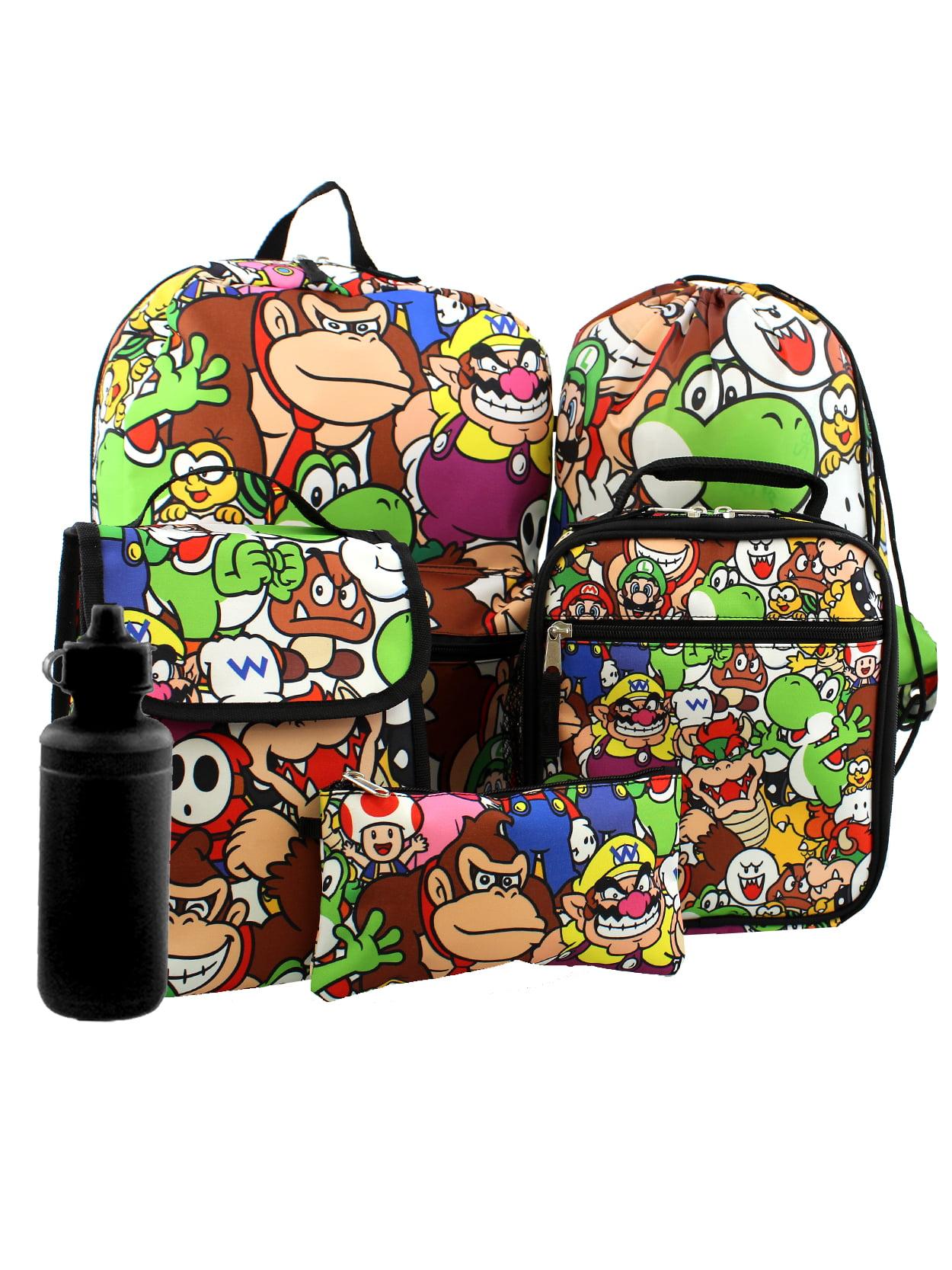 Kids Child Super Mario Bros Insulated Lunch Bag School Snack Box Travel HandBag