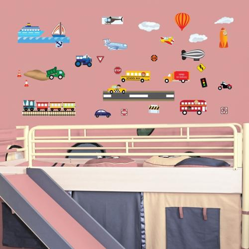 Cars, Planes and Trains Wall Decal Set