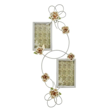 (D) Decorative Handmade Wall Double Picture Holder, Photo Frame