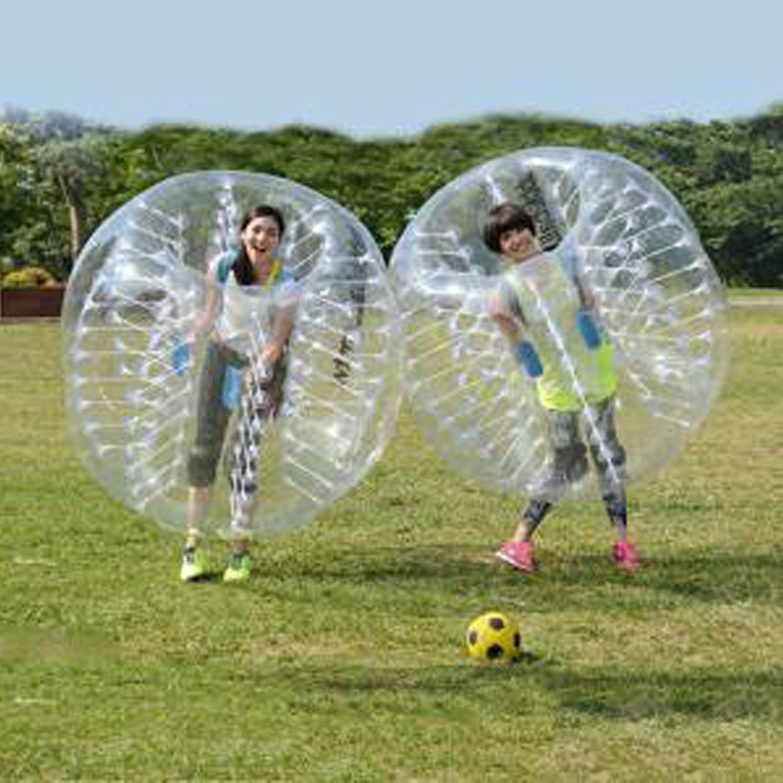 1.5M Diameter Inflatable Bumper ball PVC Transparent Human Knocker Ball Bubble Soccer WCYE by