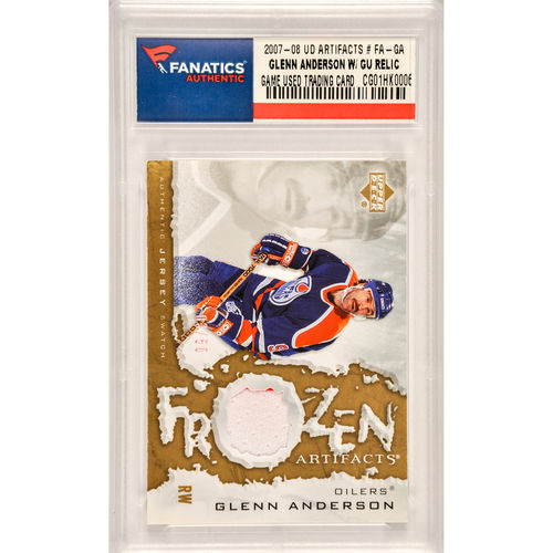 Glenn Anderson Edmonton Oilers 2007-08 Upper Deck Artifacts #FA-GA Card Limited Edition of 50 - No Size