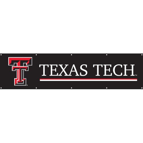 TEXAS TECH RED RAIDERS 8' WIDE OFFICIAL TAILGATE BANNER