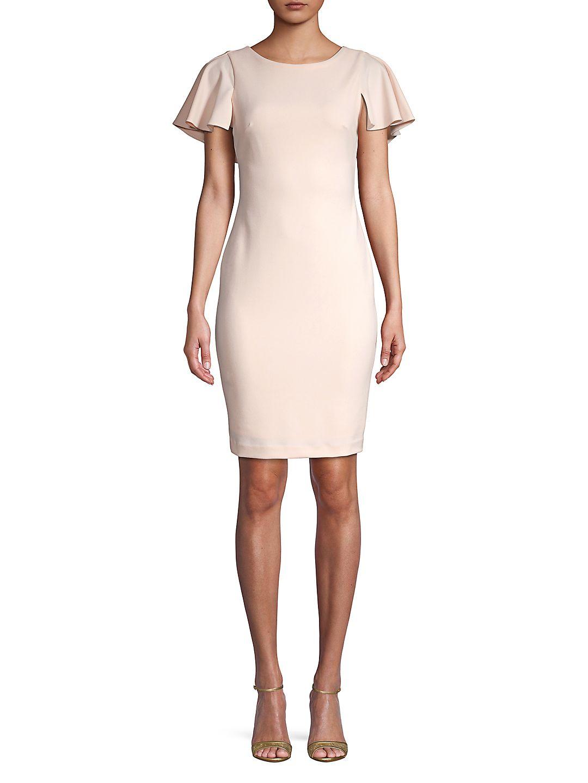 Petite Cape-Sleeve Sheath Dress