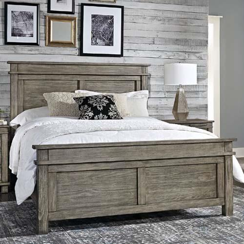 A-America Glacier Point Panel Bed in Greystone - (King)