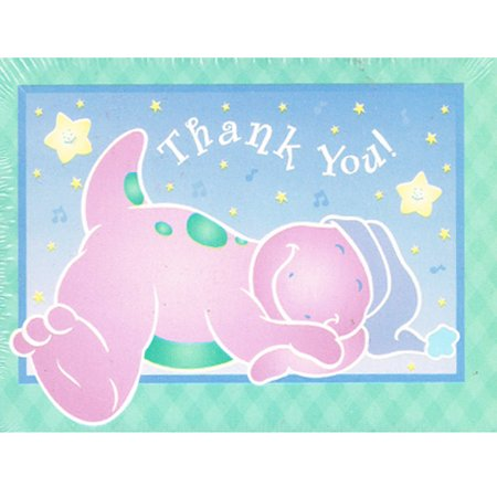 Barney Birthday Supplies (Barney 1st Birthday Thank You Notes w/ Env.)