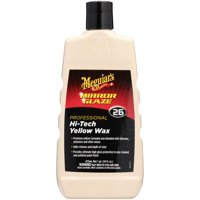 Meguiars Mirror Glaze Hi-Tech Yellow Wax  Premium Carnauba and Polymer Liquid Wax  M2616, 16 oz