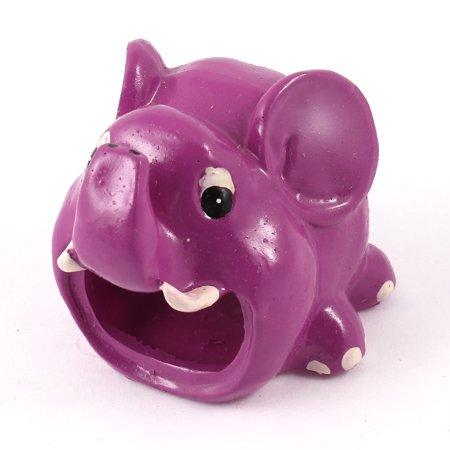 Unique Bargains Resin Elephant Shaped Portable Comfortable Hamster House Purple