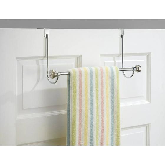 InterDesign York Over Shower Door Towel Rack Bar For