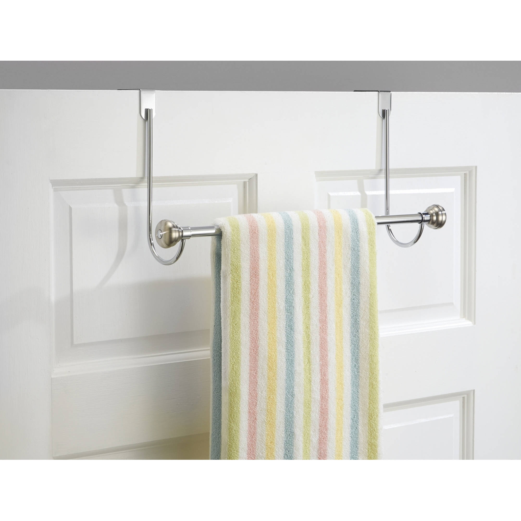 Attirant InterDesign York Over Shower Door Towel Rack Bar For Bathroom,  Chrome/Stainless