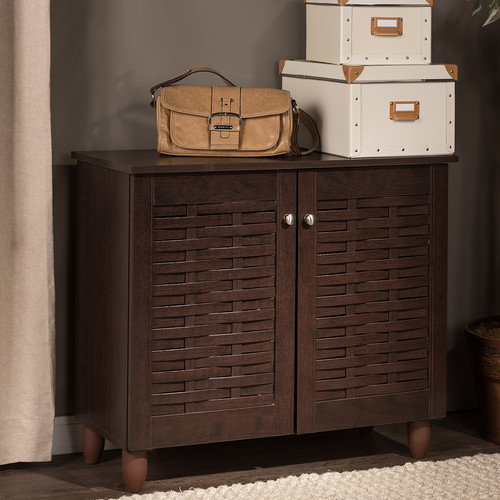 Wholesale Interiors Baxton Studio Winda 2 Door Entryway Shoes Storage Cabinet
