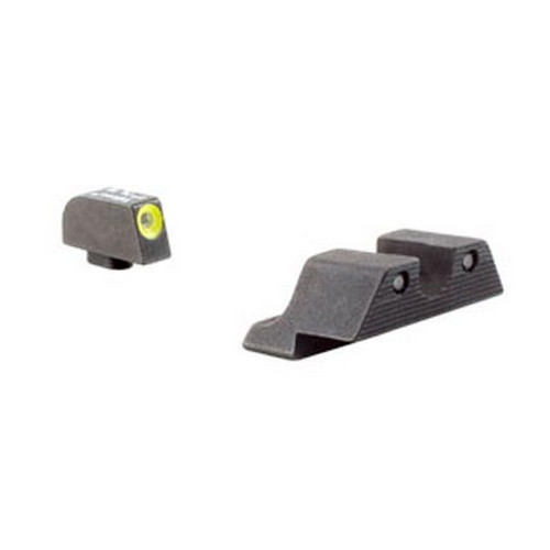 Trijicon Glock HD Night Sight Set 20 21 29 30 36 40 41, S and SF Variants, Yellow Front Outline Lamp by Trijicon