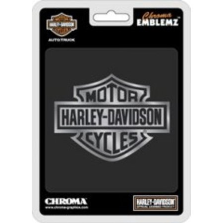 Harley-Davidson Bar And Shield Chrome Auto Emblem