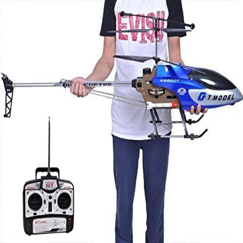 53 Inch Extra Large GT QS8006 2 Speed 3.5 Ch RC Helicopter Builtin GYRO Blue by