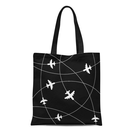 Croc Carriers Airline - ASHLEIGH Canvas Tote Bag Aircraft Airplanes Trajectory Airline Avia Aviation Cargo Carrier Commercial Reusable Shoulder Grocery Shopping Bags Handbag