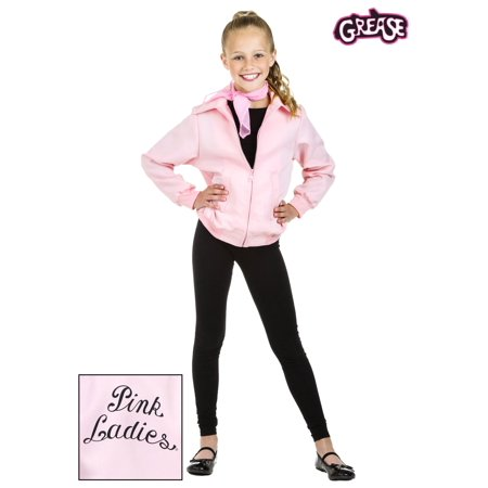Pink Ladies Kids Jacket (Child Deluxe Pink Ladies)