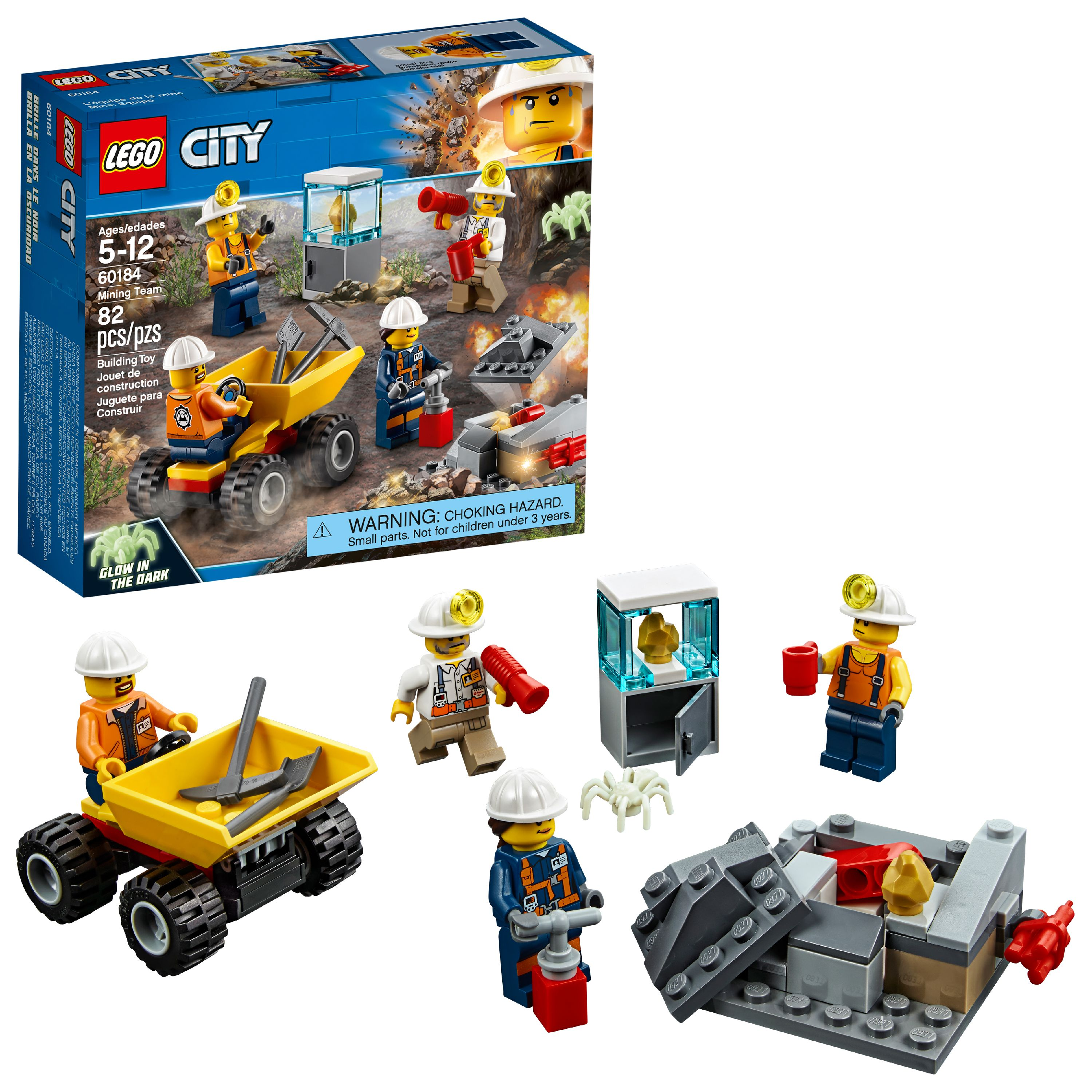 LEGO City Mining Team 60184 Building Set (82 Pieces)