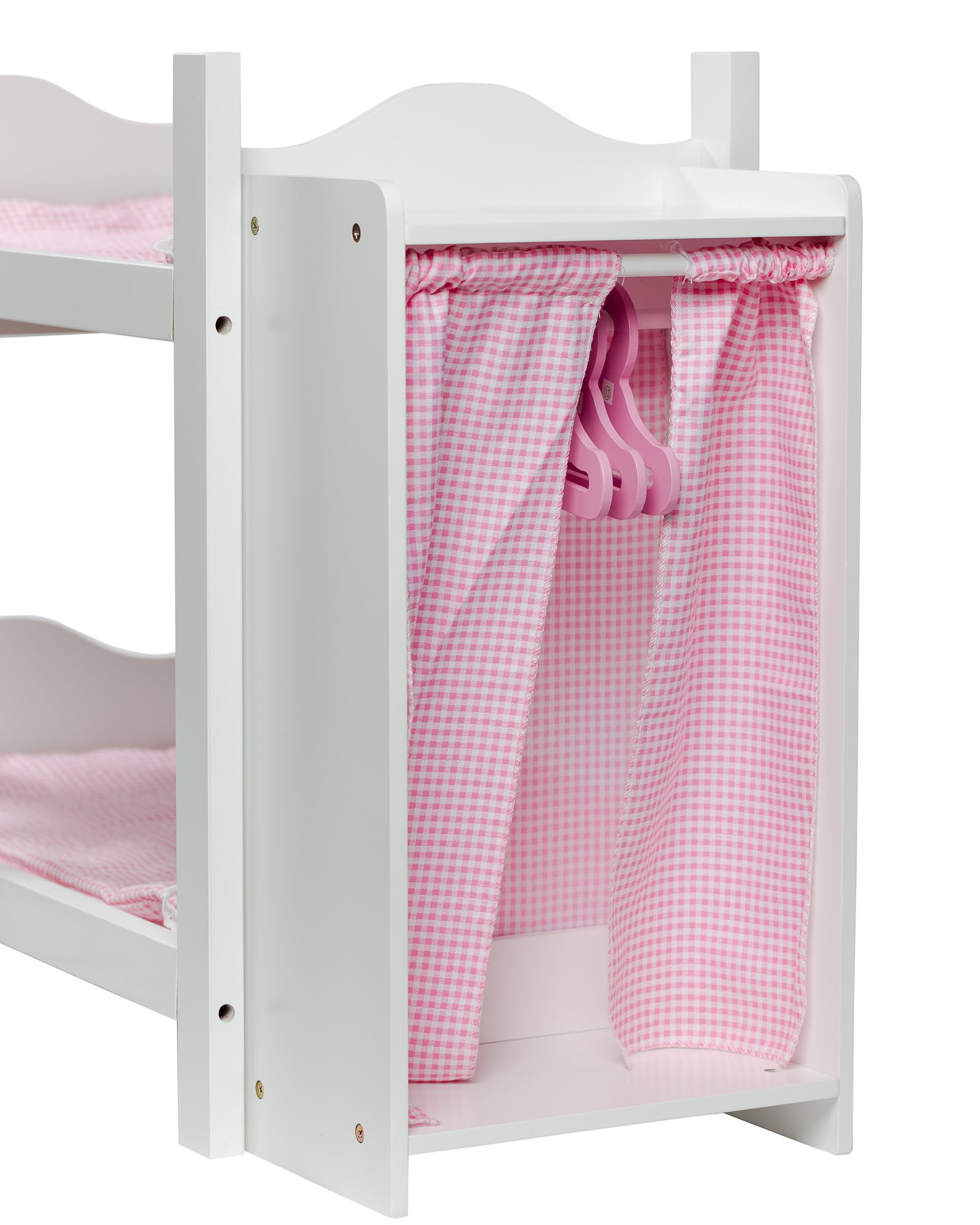 Cinderella USA Doll Bunk Beds With Ladder And Storage Armoire