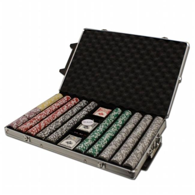 Bry Belly CSAK-1000R Pre-Pack - 1000 Ct Ace King Suited Chip Set Rolling Case