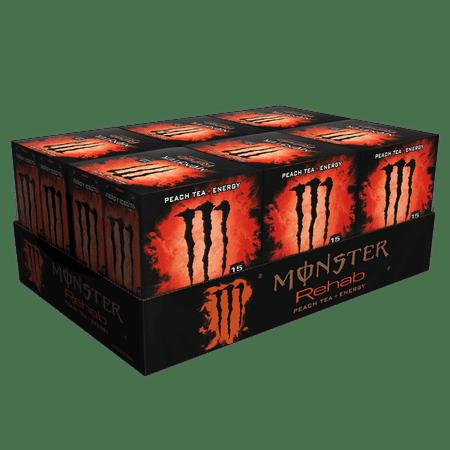 (24 Cans) Monster Energy Drink, Rehab Peach Tea + Energy, 15.5 Fl Oz](Halloween Monster Energy)
