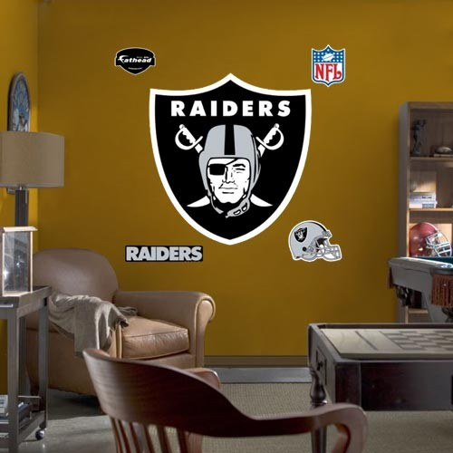 Oakland Raiders Team Logo Fathead Wall Sticker - No Size