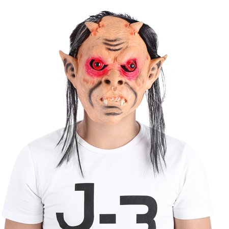 Yosoo Full Face Funny Scary Breathable Latex Mask for Fancy Dress Halloween Cosplay Party, Costume Mask, Halloween - Halloween Mask Latex Scary