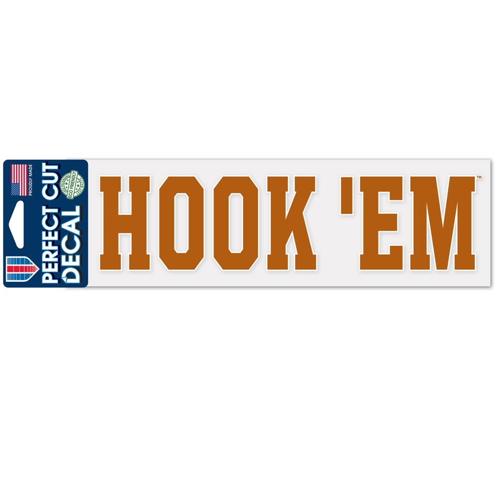 Texas Longhorns Official NCAA 3 inch x 10 inch  Die Cut Car Decal by WinCraft