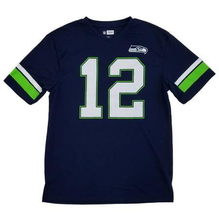 NFL Team Apparel Mens Seattle Seahawks 12th Man Football Fan Jersey (Twill Mens Football Jersey)