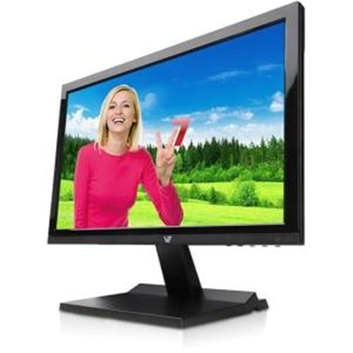 "V7 18.5"" LED 1366 x 768 1,000,000:1 LCD Monitor - Glossy Black L18500WS-9N"