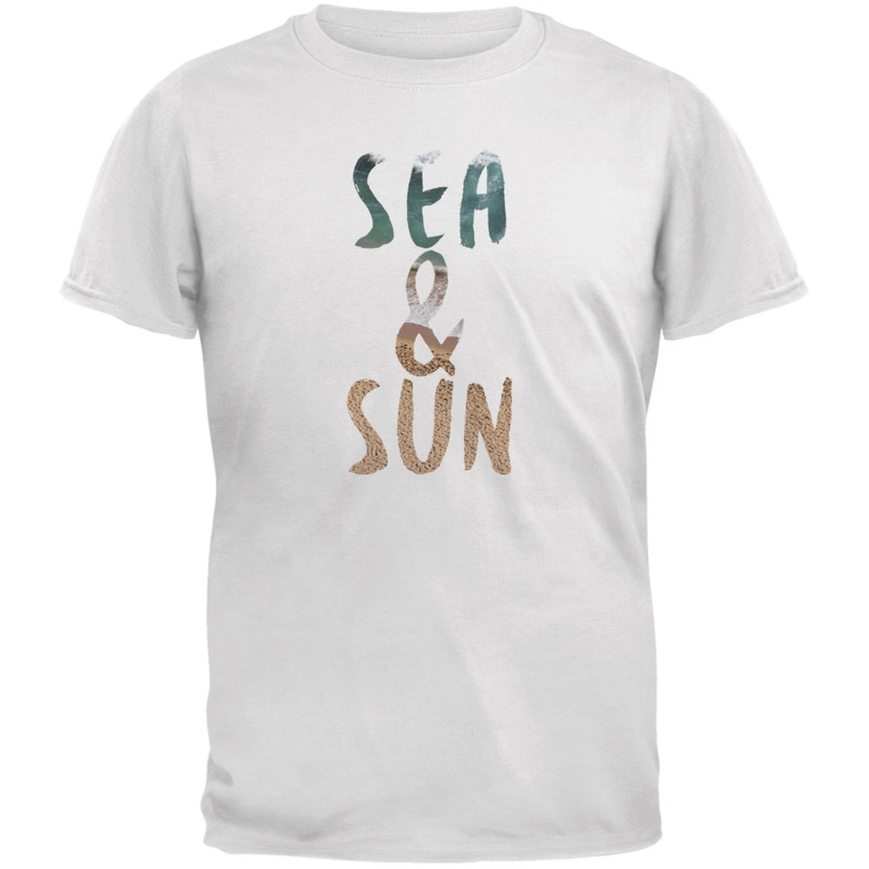 Sea & Sun Summer Beach White Youth T-Shirt