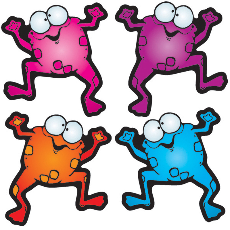 COLORFUL FROGGIES CUT-OUTS - ASSORT