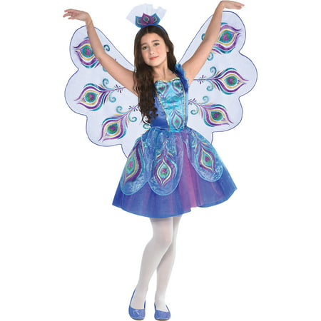 Pretty Peacock Costume for Girls, Size Small, With Dress, Wings, and Headband](Peacock Homemade Costume)