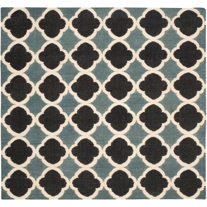 Safavieh Dhurries 4' X 6' Hand Woven Flat Weave Wool Rug - image 2 of 8