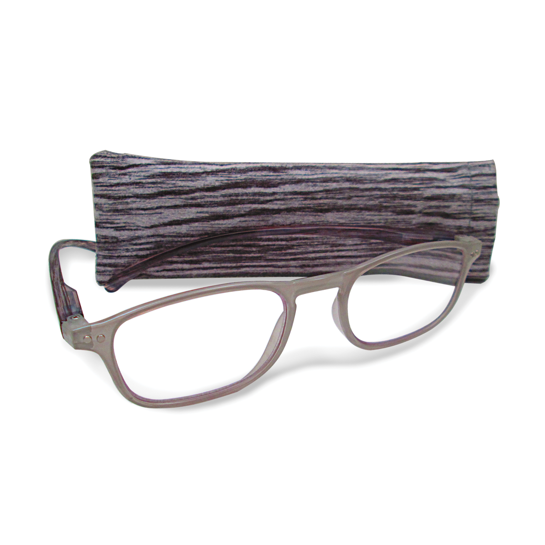 Grey +1.25 Magnification Reading Glasses
